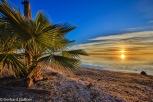 Sonnenaufgang am Strand von San Lucas