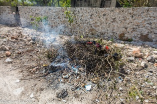 Müllverbennung auf mexikanisch
